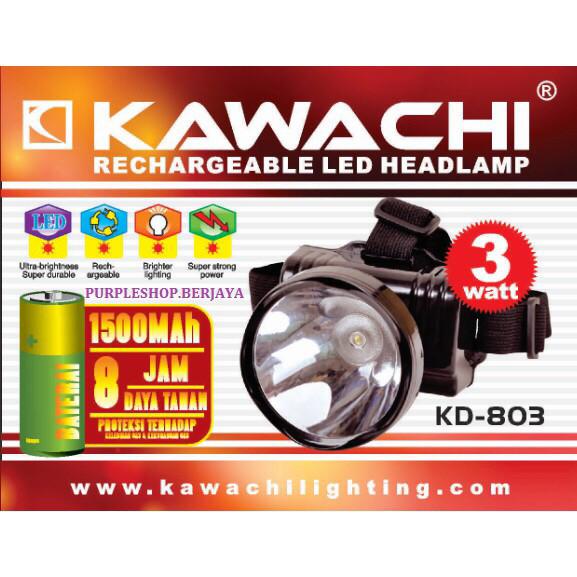 harga Senter kepala 3watt kd 803 kawachi/senter kepala cas/headlamp 3watt Tokopedia.com