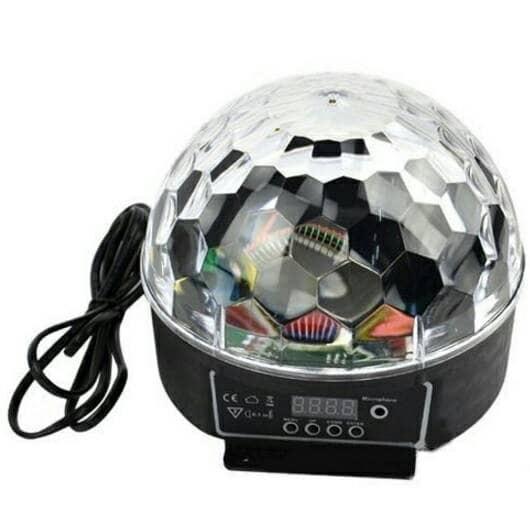 harga Mini crystal magic ball sound activated led disco lamp Tokopedia.com
