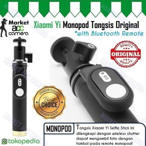 ORIGINAL Xiaomi Yi Monopod Tongsis Aluminium with Bluetooth Remote!!
