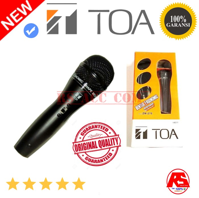 Microphone mic toa zm 270 original resmi garansi