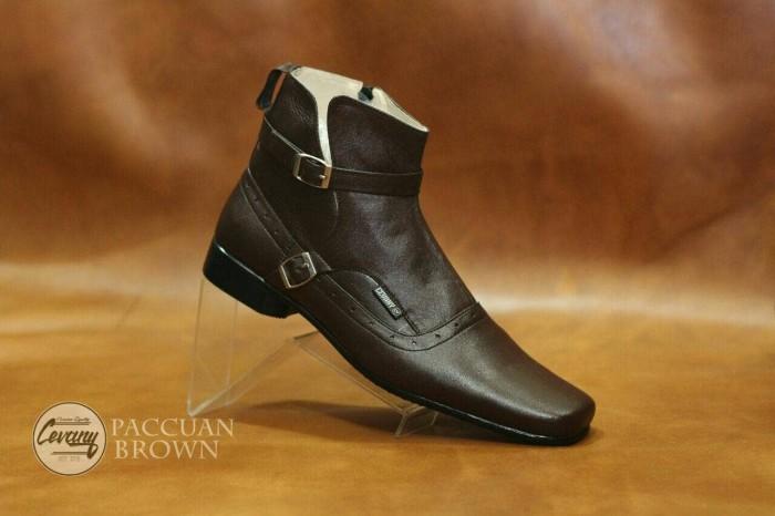 Jual sepatu Boot formal Pria kantoran Pantofel PDH dari Cevany kulit ... 45693bfd48