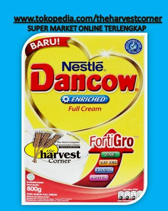 harga DANCOW FORTIGRO FULL CREAM 800GR www.tokopedia.com/theharvestcorner Tokopedia.com