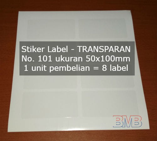 Foto Produk TRANSPARAN No 101 Stiker Label Seperti Tom and Jerry Paper Bening dari belimasbro(dot)com