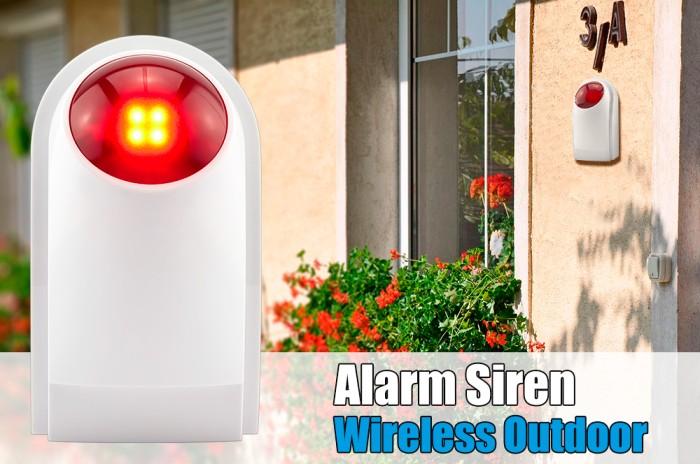 harga Kerui j008 433mhz 125db outdoor wireless flashing siren strobe light Tokopedia.com