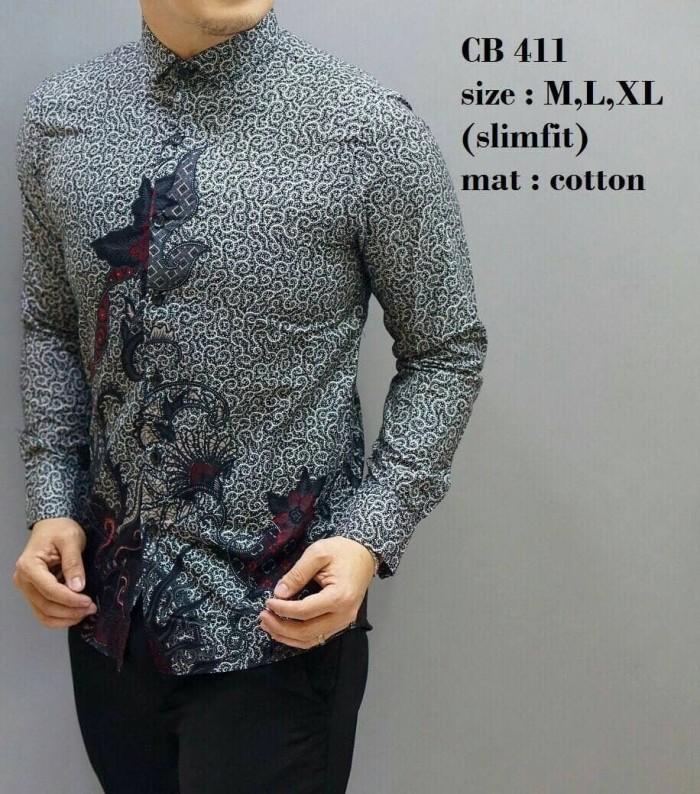 Kemeja Batik Pria / Kemeja Batik / Batik Pria / Slim Fit / Cb411