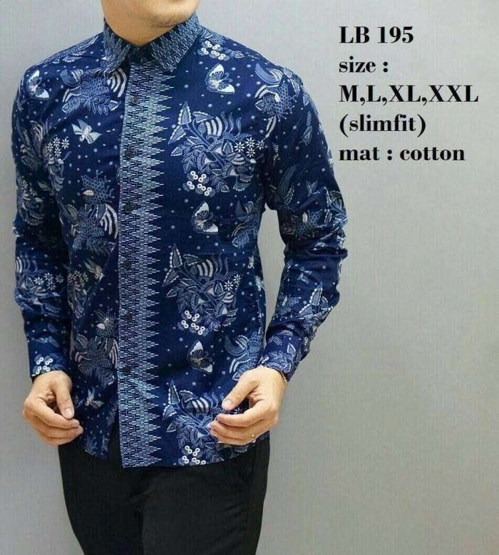 harga Kemeja Batik Pria Slim Fit Modern Lengan Panjang Lb 195 Tokopedia.com