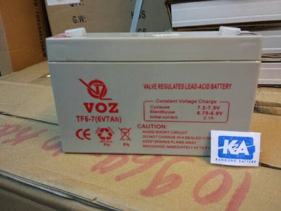 harga Aki baterai mobil motor mainan sepeda listrik voz 6v 7ah 6 v 7 ah Tokopedia.com