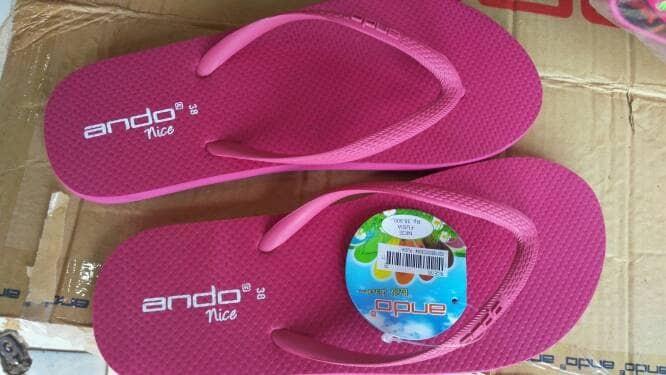 harga Sandal japit ando nice (fushia)/sendal jepit ando wanita casual murah Tokopedia.com