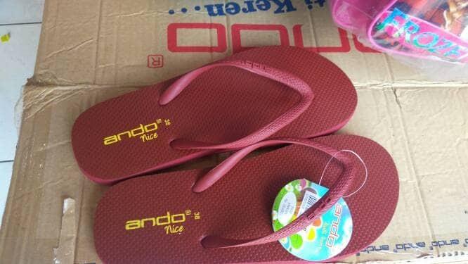 harga Sandal japit ando nice (maroon)/sendal jepit ando wanita casual murah Tokopedia.com