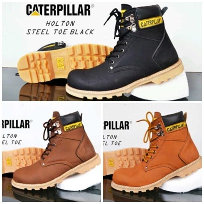 sepatu boots pria caterpillar Holton safety boot murah