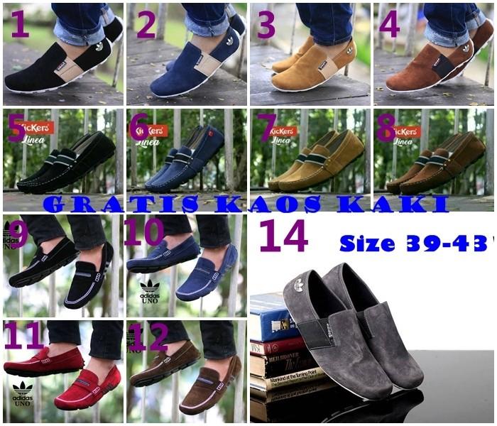 harga Sepatu casual pria formal santai kickers + adidas slop slip on murah Tokopedia.com