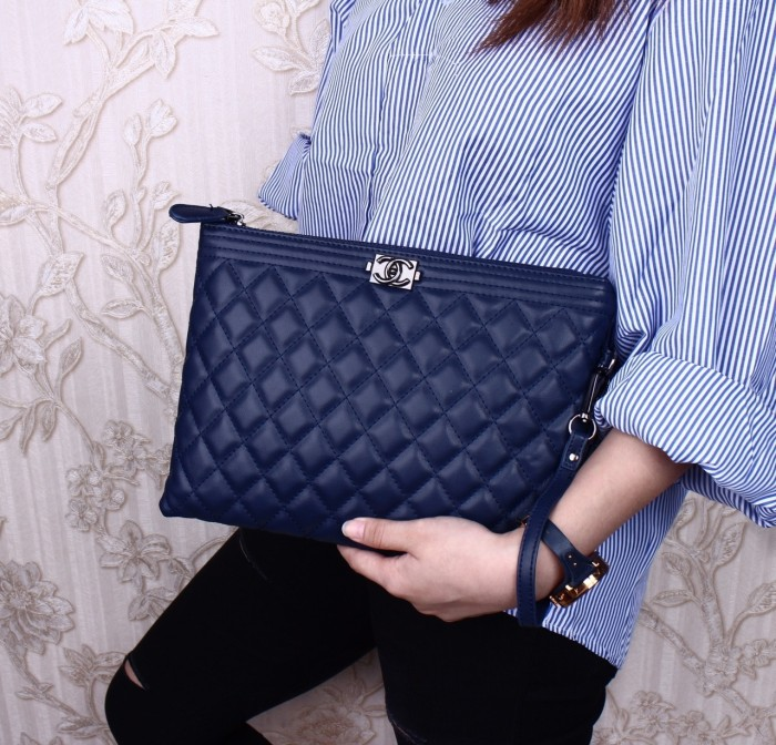 bfdcfc7eabcf Jual Q 3745 Chanel Envelope O Case (BlackHdware) Clutch ...