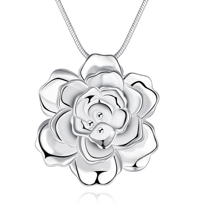 Tiaria lady necklace lknspcn773 silver plated aksesoris kalung wanita