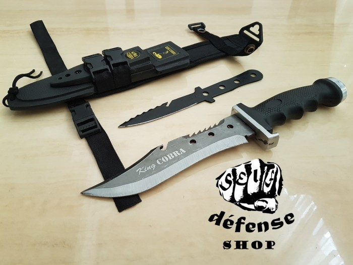 harga Belati komando-pisau sangkur hq comando cobra 2in1-self defense shop- Tokopedia.com