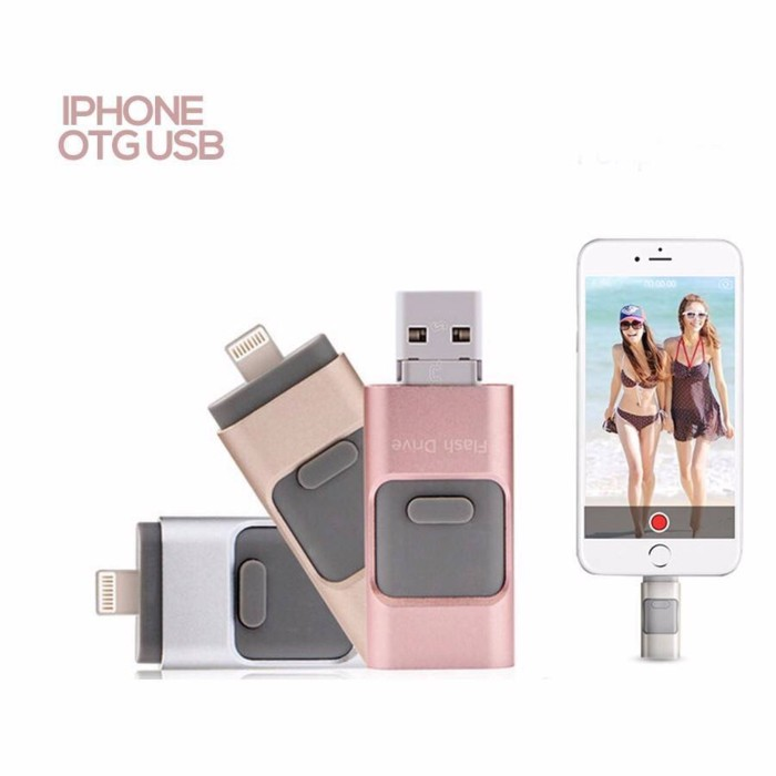 harga Flashdisk drive otg 3in1 iphone apple android pc 64gb Tokopedia.com