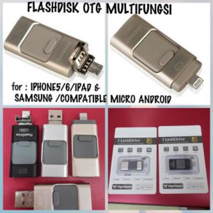 harga Flashdisk drive otg 3in1 iphone apple android pc 16gb Tokopedia.com