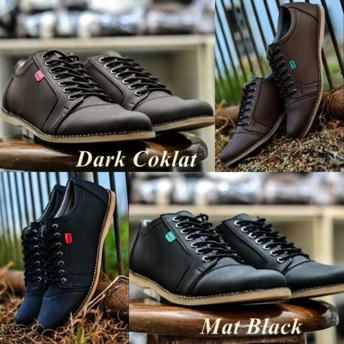 Foto Produk SEPATU PRIA KICKERS SNEAKERS CASUAL SHAKA -SAKA-COKLAT - HITAM - Hitam, 39 dari Toko Sepatu Atang