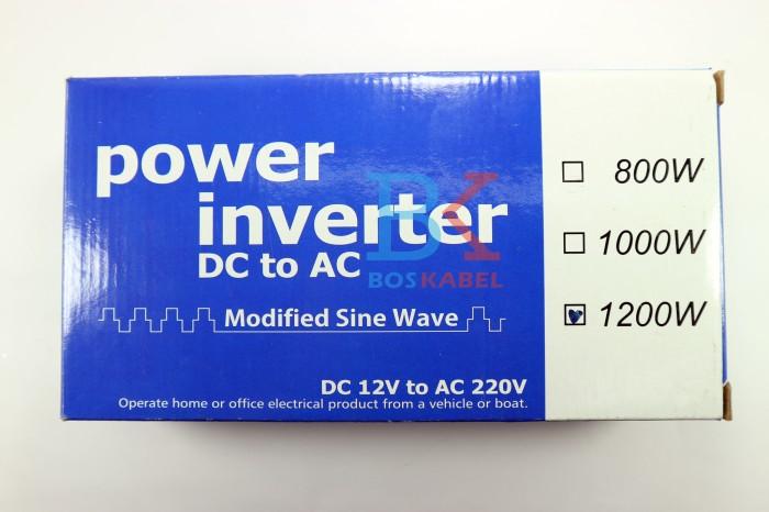 harga Power inverter usat dc to ac 1200 watt + bonus colokan ke lighter Tokopedia.com
