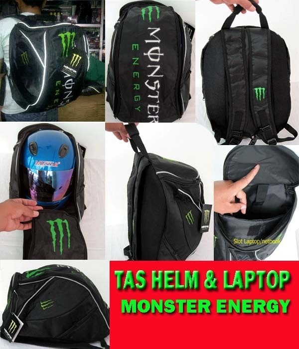 Aksesoris S9 Tas helm monster energy half full muat tp helm cross tdk 1