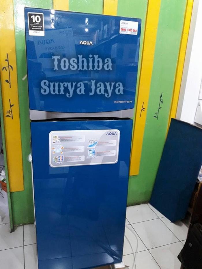 harga Kulkas 2 pintu aqua aqr-d275r bl - inverter-jabodetabek Tokopedia.com