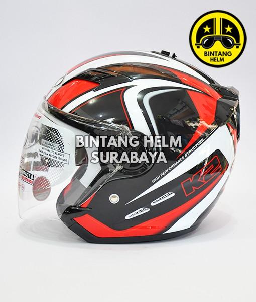 harga Helm nhk gladiator k2 black red Tokopedia.com