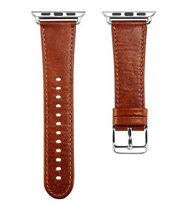 harga Leather strap band tali jam tangan kulit asli apple watch 38 42mm Tokopedia.com