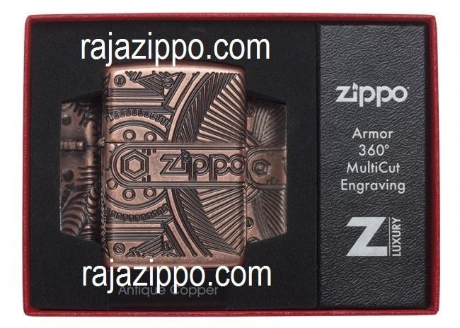 harga Zippo Armor Original Usa 29523 Antiqeu Copper Gear - Stok Lengkap Tokopedia.com