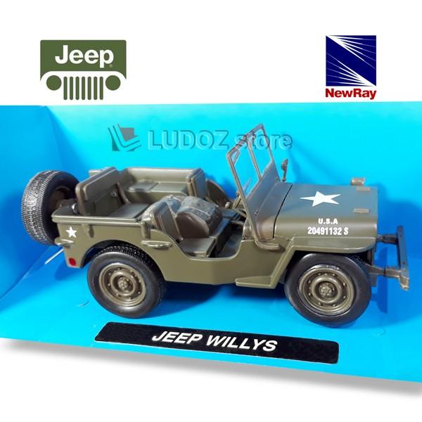 harga Diecast Jeep Willys Military Newray 1:32 Replika Mobil Die Cast Tokopedia.com