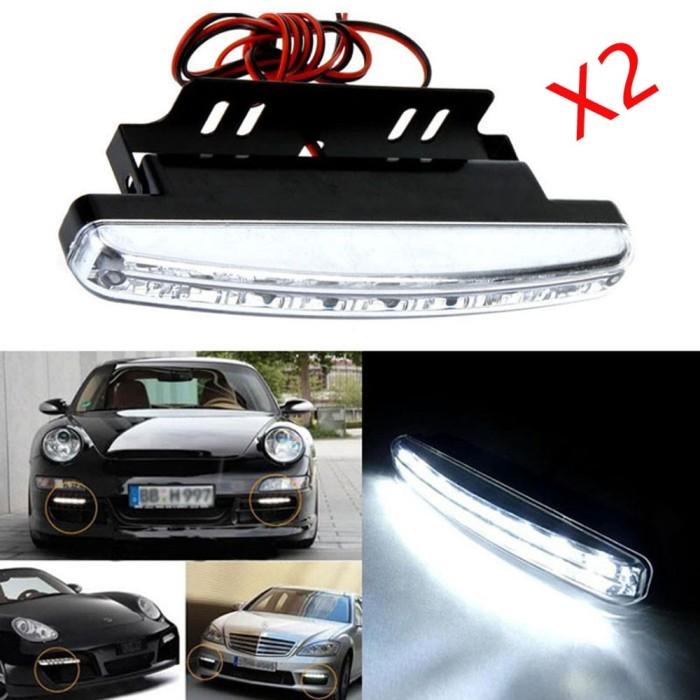 Auto Daytime Running Light White COB LED 12V DRL DrivingFog. Source ·