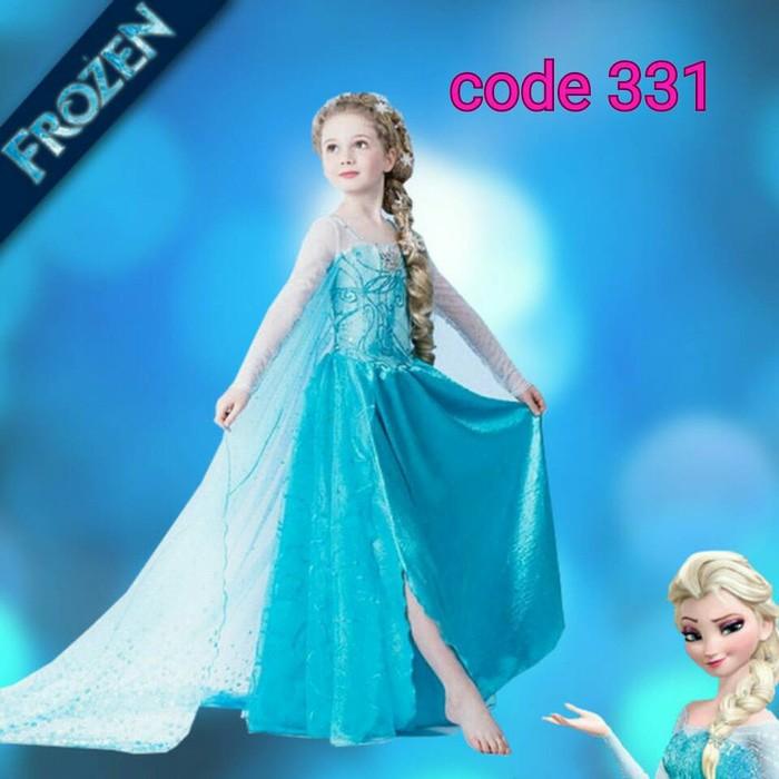 harga Gaun dress pesta kostum elsa anna frozen baju anak perempuan cewek Tokopedia.com