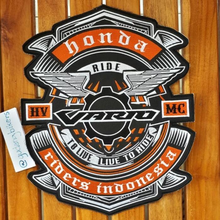 harga Emblem bordir besar honda vario motor bikers belakang rompi or jaket Tokopedia.com