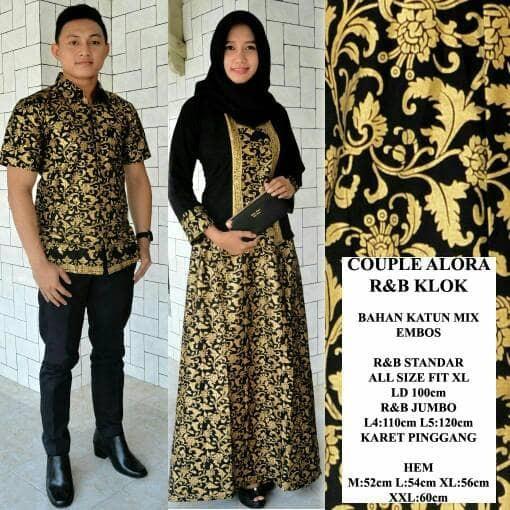 harga Baju Batik Couple Kebaya Kutubaru Muslim Modern Seragam Keluarga Batik Tokopedia.com