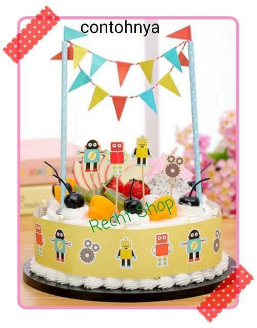 harga Topper cake kue ulang tahun karakter robot motif robot Tokopedia.com