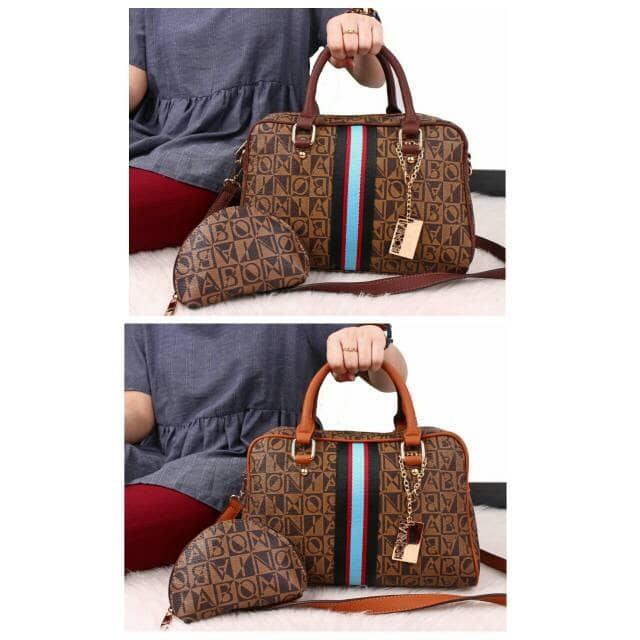 harga Tas bonia renaissance satchel bag set 2in1 84117  (18)* Tokopedia.com