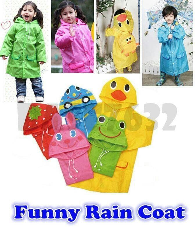 Funny rain coat / jas hujan anak lucu