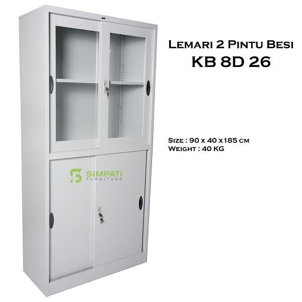 harga Filing cabinet ( lemari besi ) 2 pintu besi sliding kb 8d26 Tokopedia.com