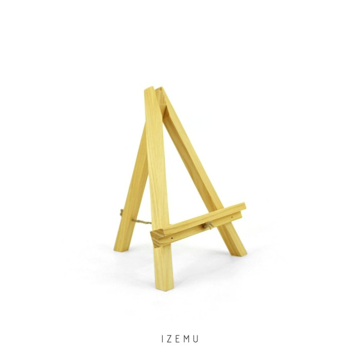 harga Izemu fuyo easel small tripod kayu pinus Tokopedia.com