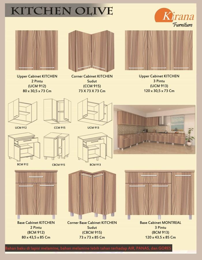 Kirana Furniture Kitchen Set Lemari Atas 3 Pintu - UCM 913 - Olive