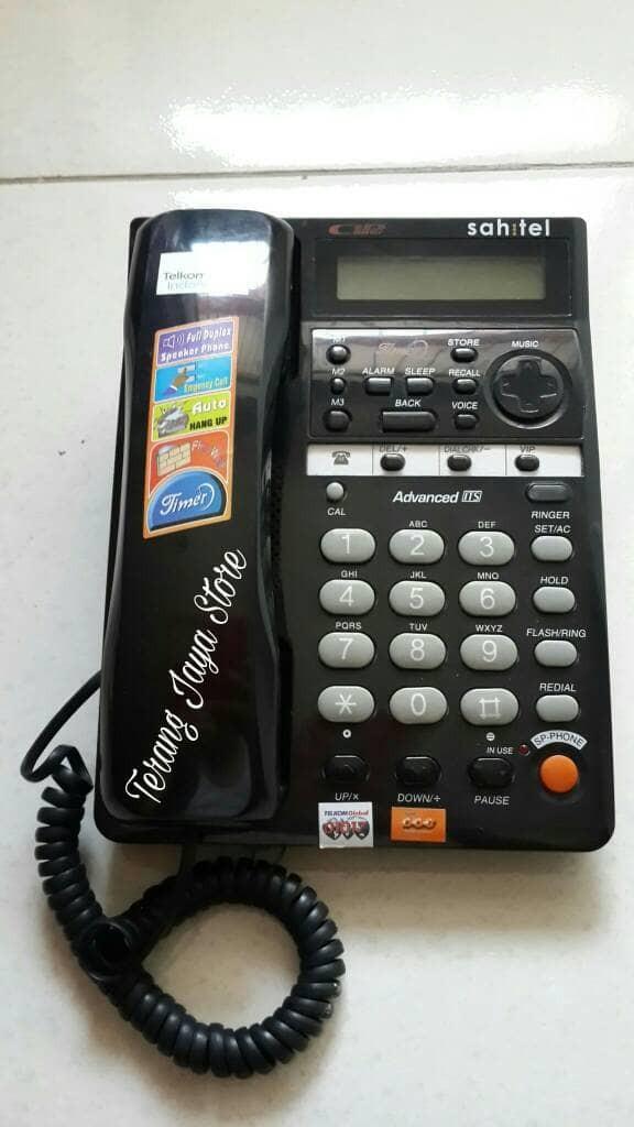 harga Telepon kabel sahitel s-77 pesawat telepon rumah sahitel s77 (hitam) Tokopedia.com