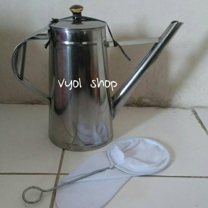 harga Teko thai tea & saringan/teko teh tarik/teko stainless/cofee maker Tokopedia.com