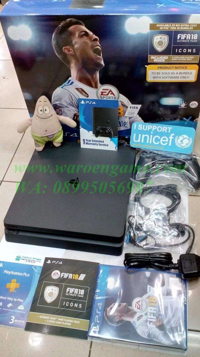 Jual Ps4 Slim Console 500gb Cuh 2006 Fifa 2018 Bundle Psn Garansi Sony 500 Gb Game 17 2 Thn