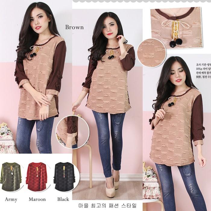 Jual baju wanita blouse murah model terbaru online grosir baju ... 6d23185182