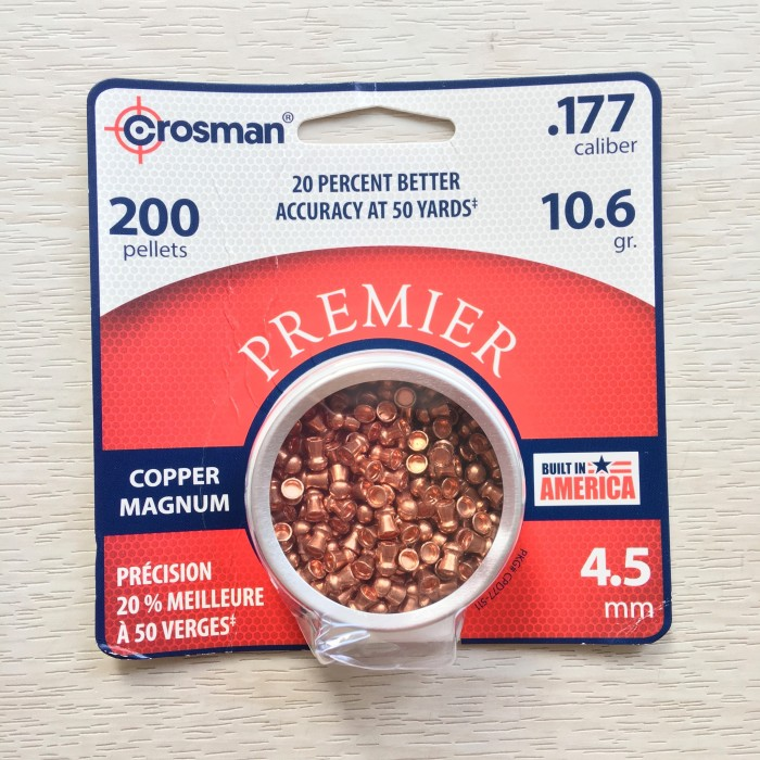 harga Mimis  crosman premier copper magnum cal.4.5mm 200pcs 10.6gr Tokopedia.com