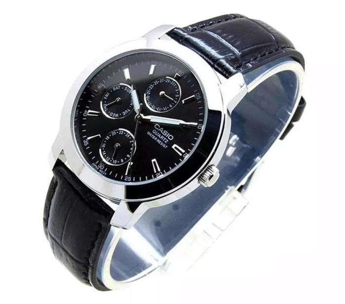 harga Casio standard - jam tangan pria - hitam - kulit - mtp-1192e-1a Tokopedia.com