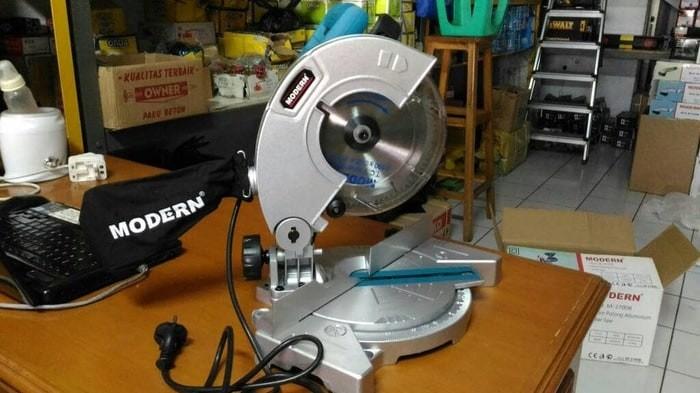 Mesin Potong Aluminium / Kayu Mitter Miter Saw 7inch M-3700 Modern