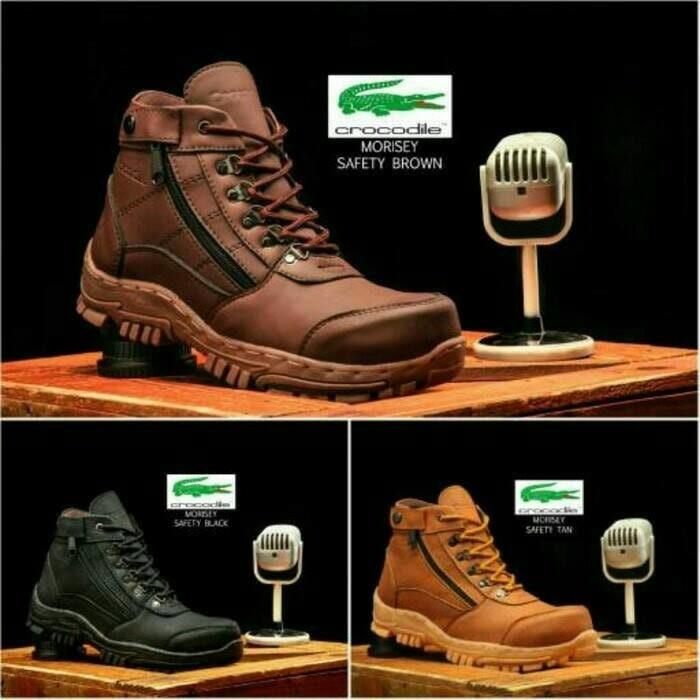 sepatu boots pria crocodile morisey safety boot murah Crocodile - Cokelat  Muda f2a44f9fd7