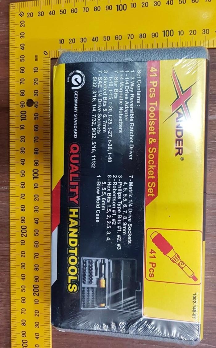 Jual Tool Kit 41 Kunci Sock Pas Shock Sok Obeng Set Xander Kenmaster T 40