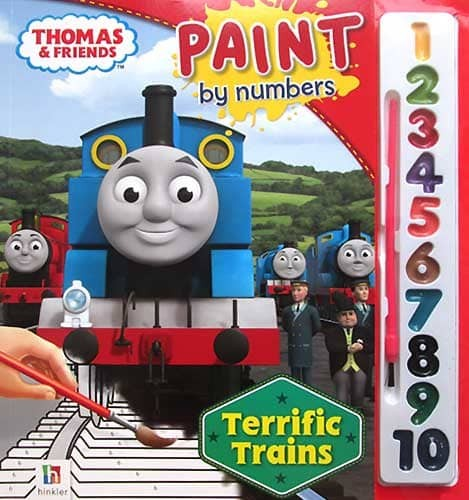 Jual Buku Mewarnai Thomas And Friends Paint By Numbers Terrific