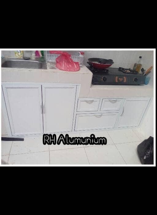 Jual Kitchen Set Kabinet Bawah Kompor Acp Rh Aluminium Tokopedia