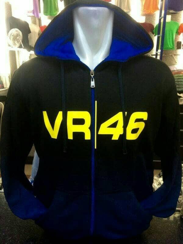 harga Jaket sweater hoodie vr46 valentino rossi moto gp gradasi hitam biru Tokopedia.com